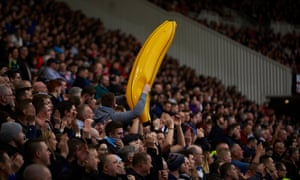 City fan with an inflatable banana