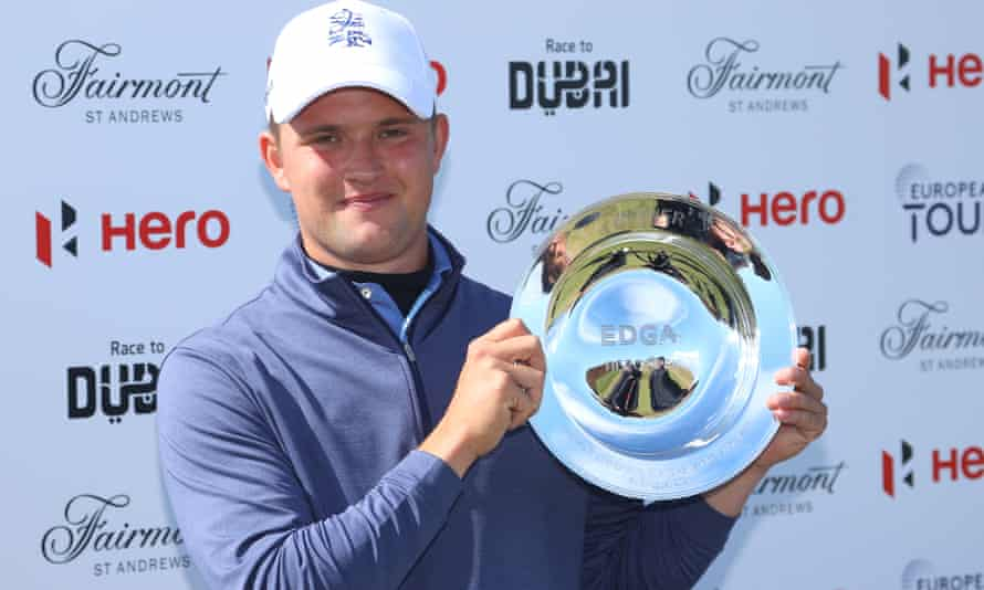 Kipp Popert with the trophy after the EDGA Hero Open at Fairmont St Andrews.