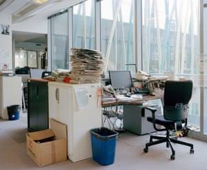 Inside Le Monde newsroom, Paris