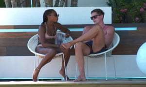 Samira Mighty and Alex George on Love Island.