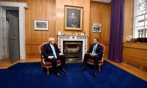 Boris Johnson with Leo Varadkar (right) at Government Buildings
