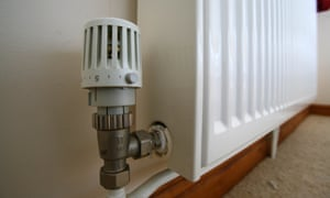 Central heating knob on a radiator in a house.
