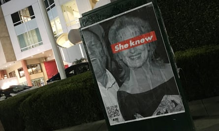 Nearly a dozen posters were plastered at multiple LA locations on Tuesday.