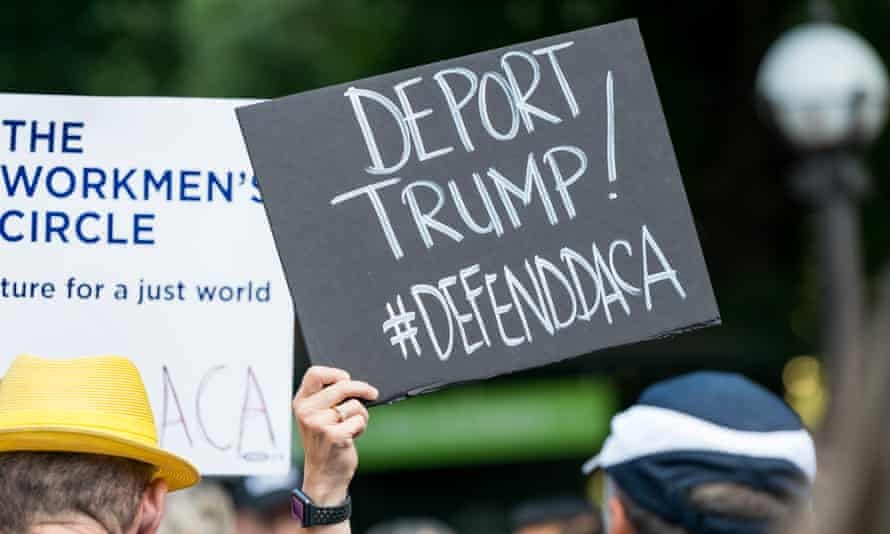 A rally in New York City against the repeal of Daca.