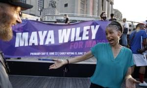 New York mayoral candidate Maya Wiley.