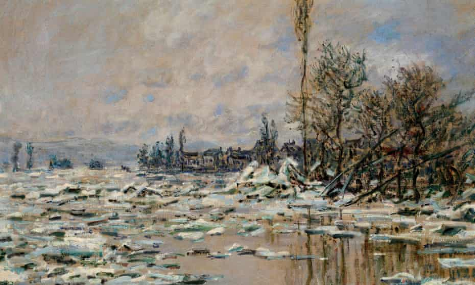 Breakup of the Ice by Monet (1880).