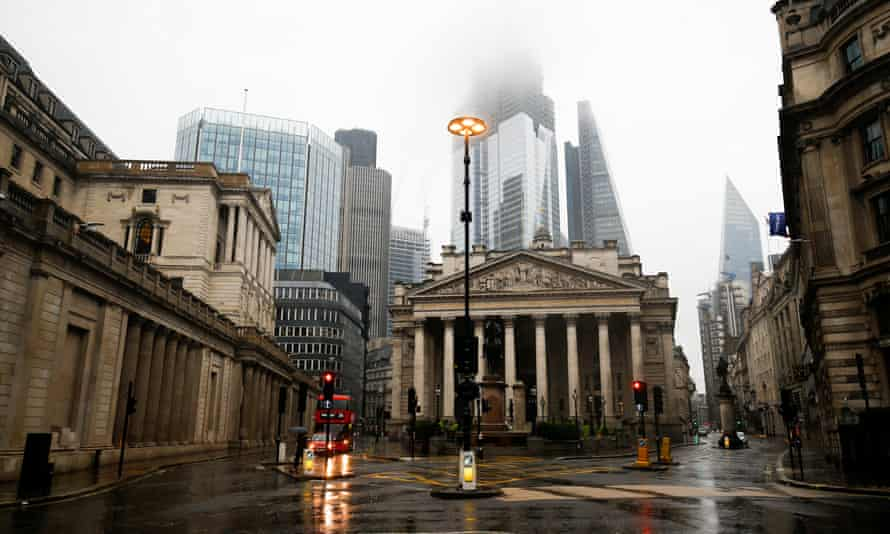 The Bank of England with the City in the background