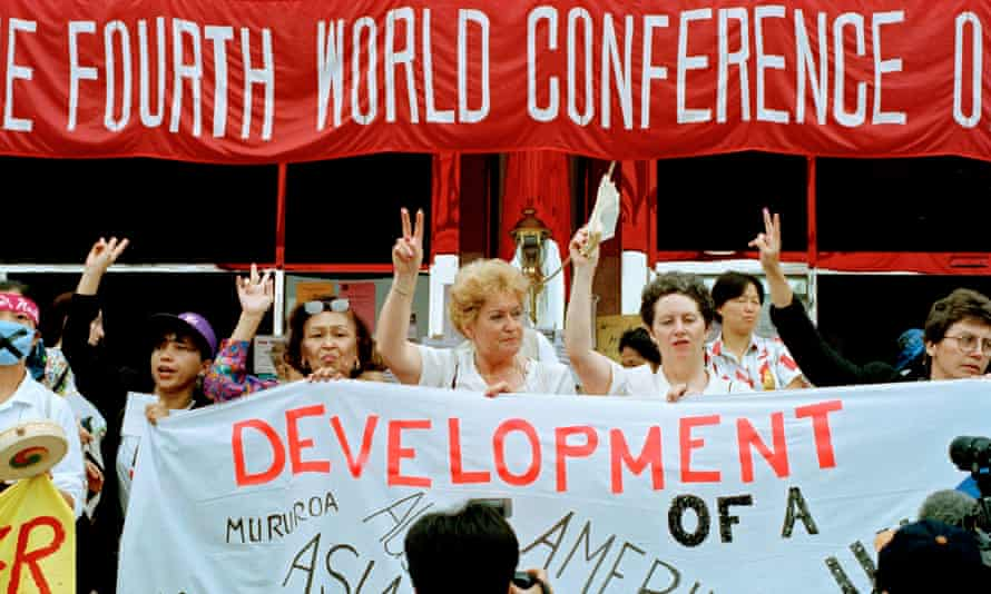 Delegates at the fourth world conference on women in Beijing in 1995