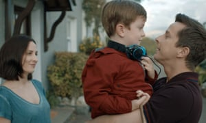 Alison (Morven Christie) and Paul (Lee Ingleby) with their son Joe (Max Vento) in The A Word.