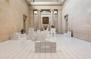 some of the sculptures picked from the Tate collection for Anthea Hamilton's installation.