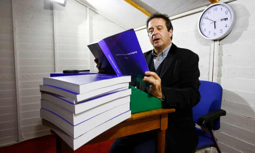 Mark Thomas, one of the performers helping to read aloud the entirety of the Chilcot report.