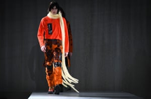 Long scarves at the Acne Studios show.