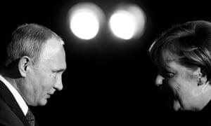 Merkel and Putin.