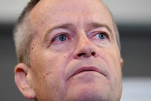 Bill Shorten speaks to the media about his late mother during a visit to Grand Pacific Health in Nowra.