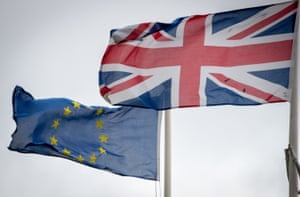 The EU and UK flags