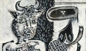 Minotaure et femme, August 10, 1937 (Mougins).
