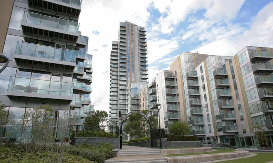 'No effective action is taken to end Britain's housing crisis' ... part of a large Berkeley Group development in north London.