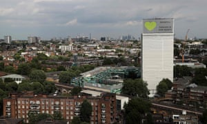 Grenfell tower wrapped in protective sheeting