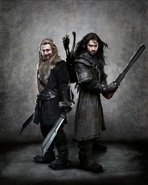 With Dean O'Gormon in The Hobbit: An Unexpected Journey.