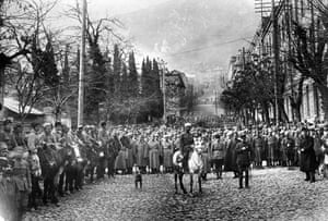 The Red Army invades Tbilisi on 25 February 1921