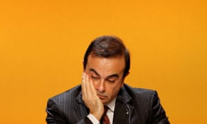 Carlos Ghosn at a Renault annual shareholders meeting before his arrest in 2018.
