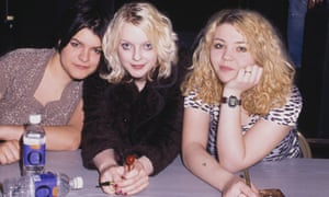 Kenickie at their debut album launch in 1997: Marie du Santiago, Lauren Laverne and Emmy-Kate Montrose.
