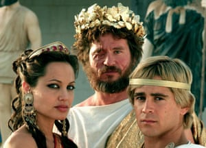 Angelina Jolie and Colin Farrell in Alexander.