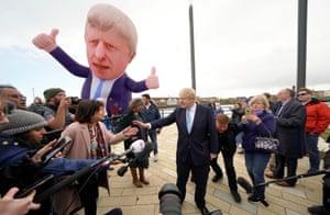 Boris Johnson at Jacksons Wharf in Hartlepool.