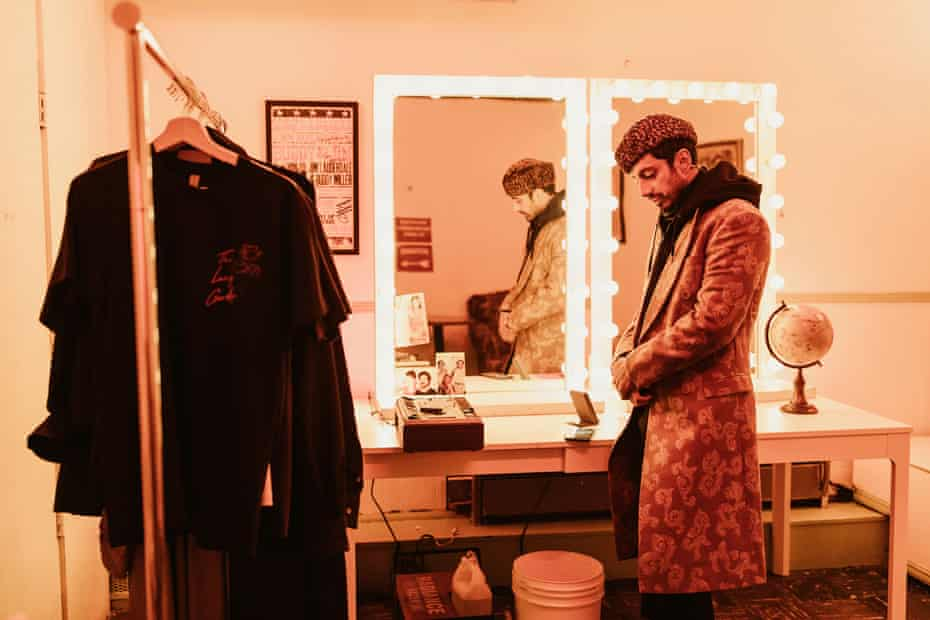 Riz Ahmed backstage in The Long Goodbye.