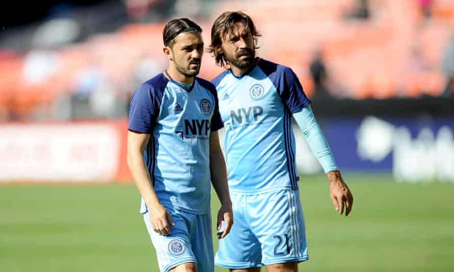 New York City FC pair David Villa and Andrea Pirlo. A top player in the MLS can expect to play around 40 total games per season.