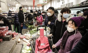 Wuhan Residents told not to leave as coronavirus spreads. Taken on 23 January.