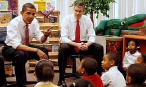 Arne Duncan with Barack Obama in 2008.