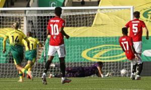 Todd Cantwell scores Norwich's equaliser