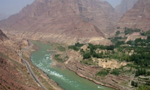 The Yellow river near the Jishi gorge, where the skeletons of children have revealed clues to the mythical great flood of China.