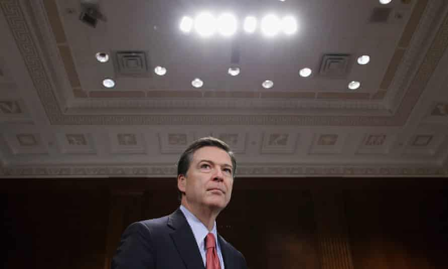 FBI director James Comey prepares to testify before the Senate judiciary committee.