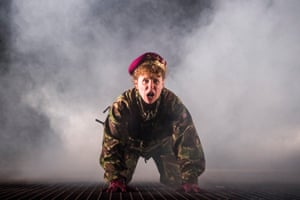 Michelle Terry played the heroic young king in a gender-switched Henry V, directed by Robert Hastie