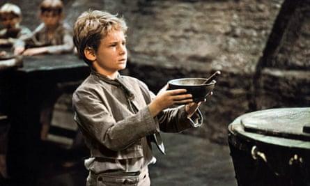 Mark Lester plays Oliver Twist in Oliver!, 1968.