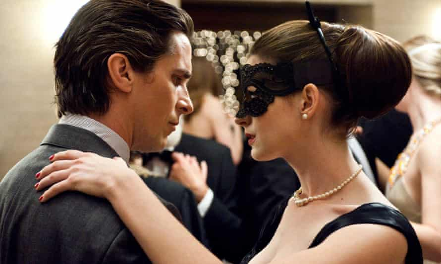 2012's The Dark Knight Rises, Bruce Wayne (Christian Bale) and Selina Kyle (Anne Hathaway)