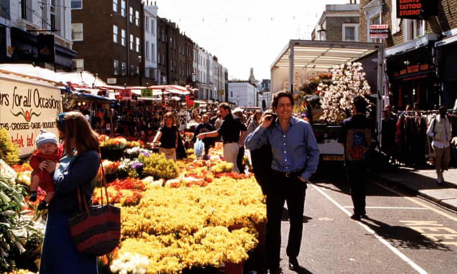 A scene from the film Notting Hill.