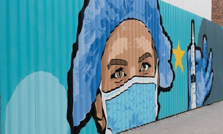 A vaccine mural in Paris