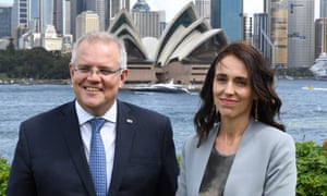 Jacinda Ardern and Scott Morrison