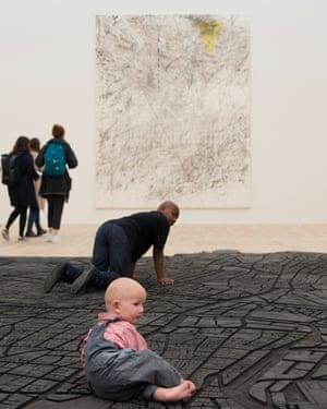 Julie Mehretu's Mogamma, A Painting in Four Parts: Part 3, 2012.