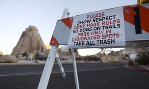 A sign placed by staff at a closed campground at Joshua Tree National Park during the shutdown.
