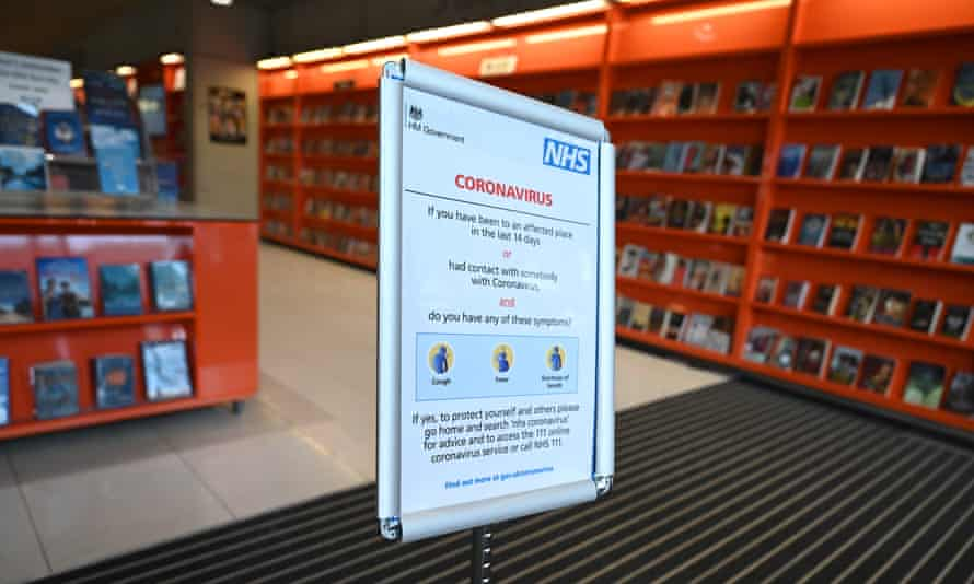 A library in Wembley north London, pictured early in the coronavirus crisis on 17 March 2020.