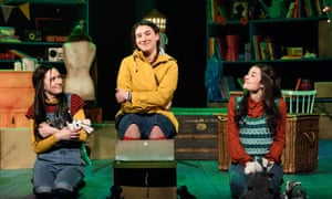Kim Allan, Rehanna MacDonald, and Betty Valencia in the play This Girl Laughs, This Girl Cries, This Girl Does Nothing.