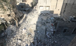 Site of airstrike in Aleppo