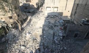 Site of airstrike in Aleppo