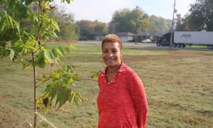 Ebony Pryor, hopes newly-planted trees will help reduce the relentless summer heat and smells from chemical plants in the Rubbertown neighbourhood.