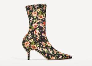 Zara's kitten-heel sock boot.