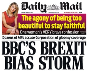 Front page of the Daily Mail.